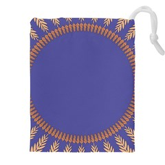 Frame Of Leafs Pattern Background Drawstring Pouches (XXL)