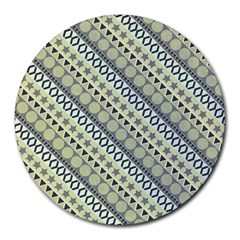 Abstract Seamless Background Pattern Round Mousepads