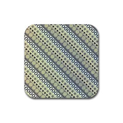 Abstract Seamless Background Pattern Rubber Square Coaster (4 Pack)