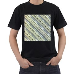 Abstract Seamless Background Pattern Men s T Shirt (black) (two Sided)
