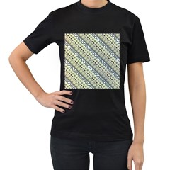 Abstract Seamless Background Pattern Women s T Shirt (black) (two Sided)