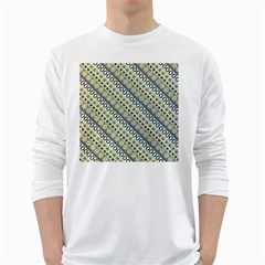 Abstract Seamless Background Pattern White Long Sleeve T-Shirts