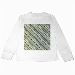Abstract Seamless Background Pattern Kids Long Sleeve T Shirts