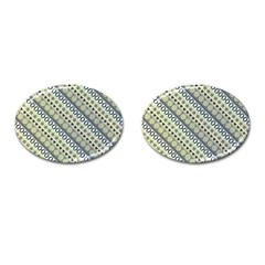 Abstract Seamless Background Pattern Cufflinks (oval)