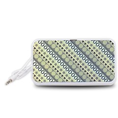 Abstract Seamless Background Pattern Portable Speaker (White)