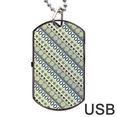 Abstract Seamless Background Pattern Dog Tag USB Flash (Two Sides)
