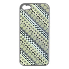 Abstract Seamless Background Pattern Apple iPhone 5 Case (Silver)