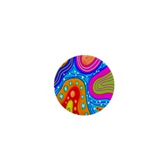 Hand Painted Digital Doodle Abstract Pattern 1  Mini Magnets