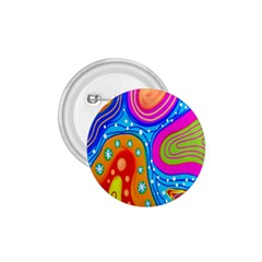 Hand Painted Digital Doodle Abstract Pattern 1 75  Buttons