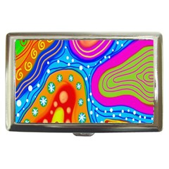 Hand Painted Digital Doodle Abstract Pattern Cigarette Money Cases