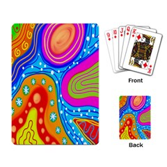 Hand Painted Digital Doodle Abstract Pattern Playing Card
