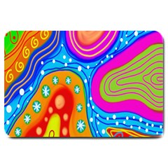 Hand Painted Digital Doodle Abstract Pattern Large Doormat