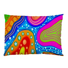 Hand Painted Digital Doodle Abstract Pattern Pillow Case
