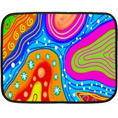 Hand Painted Digital Doodle Abstract Pattern Fleece Blanket (mini)