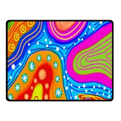 Hand Painted Digital Doodle Abstract Pattern Fleece Blanket (small)