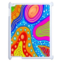 Hand Painted Digital Doodle Abstract Pattern Apple iPad 2 Case (White)