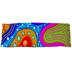 Hand Painted Digital Doodle Abstract Pattern Body Pillow Case Dakimakura (Two Sides)