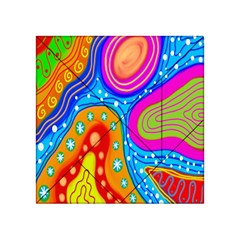 Hand Painted Digital Doodle Abstract Pattern Acrylic Tangram Puzzle (4  x 4 )