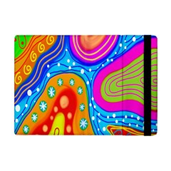 Hand Painted Digital Doodle Abstract Pattern Apple Ipad Mini Flip Case