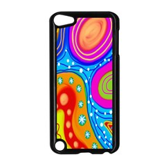 Hand Painted Digital Doodle Abstract Pattern Apple Ipod Touch 5 Case (black)