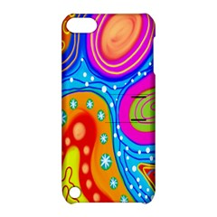 Hand Painted Digital Doodle Abstract Pattern Apple iPod Touch 5 Hardshell Case with Stand