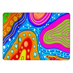 Hand Painted Digital Doodle Abstract Pattern Samsung Galaxy Tab 10.1  P7500 Flip Case