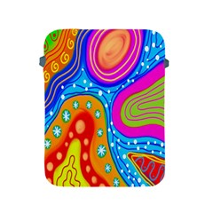 Hand Painted Digital Doodle Abstract Pattern Apple iPad 2/3/4 Protective Soft Cases
