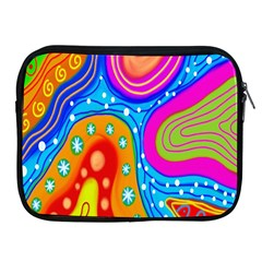 Hand Painted Digital Doodle Abstract Pattern Apple iPad 2/3/4 Zipper Cases