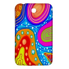 Hand Painted Digital Doodle Abstract Pattern Samsung Galaxy Tab 3 (7 ) P3200 Hardshell Case