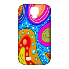Hand Painted Digital Doodle Abstract Pattern Samsung Galaxy S4 Classic Hardshell Case (PC+Silicone)