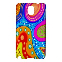 Hand Painted Digital Doodle Abstract Pattern Samsung Galaxy Note 3 N9005 Hardshell Case