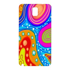 Hand Painted Digital Doodle Abstract Pattern Samsung Galaxy Note 3 N9005 Hardshell Back Case