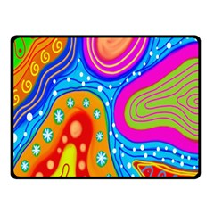 Hand Painted Digital Doodle Abstract Pattern Double Sided Fleece Blanket (Small)