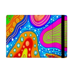 Hand Painted Digital Doodle Abstract Pattern iPad Mini 2 Flip Cases
