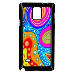 Hand Painted Digital Doodle Abstract Pattern Samsung Galaxy Note 4 Case (Black)