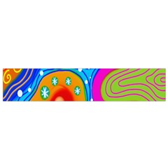 Hand Painted Digital Doodle Abstract Pattern Flano Scarf (small)