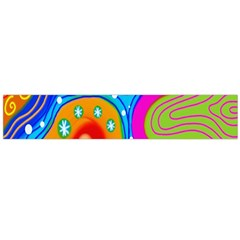 Hand Painted Digital Doodle Abstract Pattern Flano Scarf (Large)