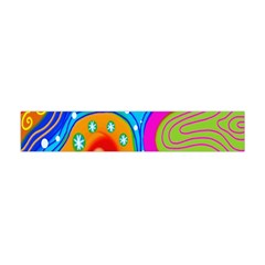 Hand Painted Digital Doodle Abstract Pattern Flano Scarf (mini)