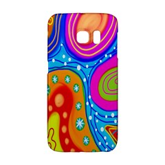 Hand Painted Digital Doodle Abstract Pattern Galaxy S6 Edge