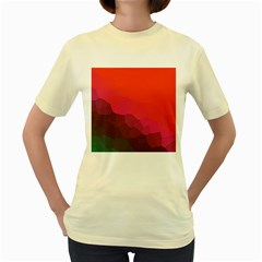 Abstract Elegant Background Pattern Women s Yellow T Shirt