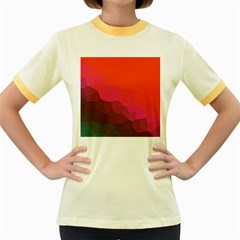 Abstract Elegant Background Pattern Women s Fitted Ringer T Shirts