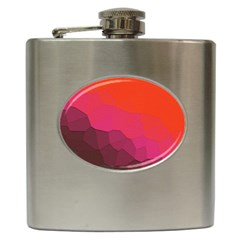 Abstract Elegant Background Pattern Hip Flask (6 Oz)