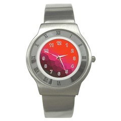 Abstract Elegant Background Pattern Stainless Steel Watch