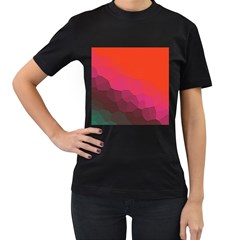 Abstract Elegant Background Pattern Women s T Shirt (black)