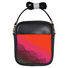Abstract Elegant Background Pattern Girls Sling Bags