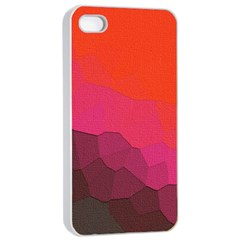 Abstract Elegant Background Pattern Apple iPhone 4/4s Seamless Case (White)