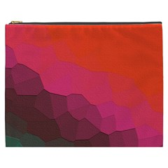Abstract Elegant Background Pattern Cosmetic Bag (XXXL)