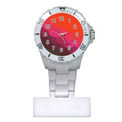 Abstract Elegant Background Pattern Plastic Nurses Watch