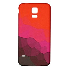 Abstract Elegant Background Pattern Samsung Galaxy S5 Back Case (White)