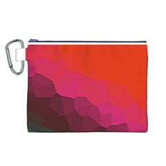 Abstract Elegant Background Pattern Canvas Cosmetic Bag (l)